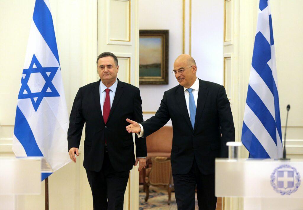 Συνάντηση ΥΠΕΞ Νίκου Δένδια με τον Υπουργό Εξωτερικών του Ισραήλ Israel Katz Αθήνα 31.10.2019 48992919906 scaled