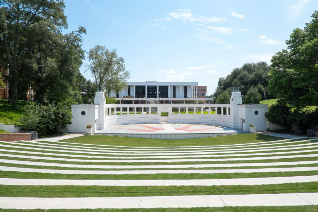 AgroPublic | Clemson University Outdoor Theater and Cooper Library